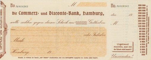 Commerzbank check form